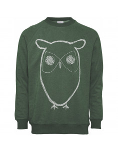 Knowledge Cotton - Sweat Shirt With Owl Print