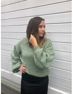 Cable Sleeve Knitted Sweater