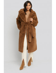 NA-KD - Soft Faux Fur Long Coat