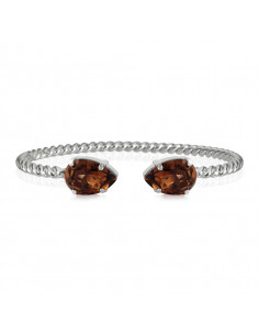MINI DROP BRACELET RHODIUM - SMOKED TOPAZ