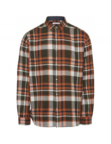 LARCH LS checked flannel shirt