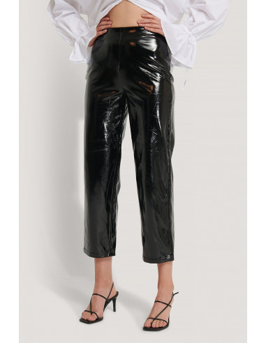 High Waisted Patent Pants